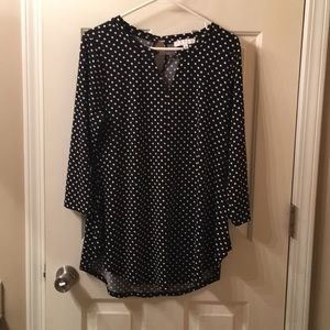 Black polka dots with key hole in the back